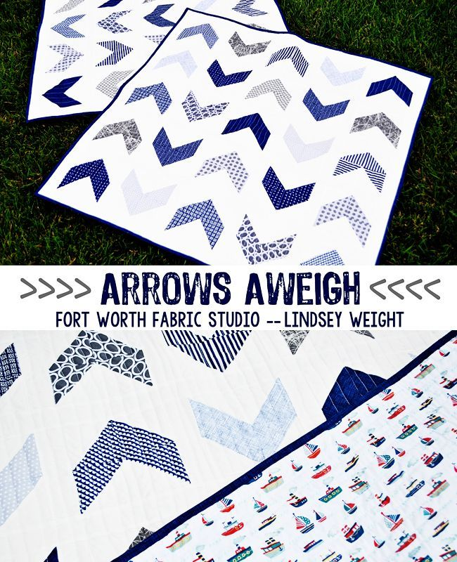 Arrows Aweigh {Boy Quilt} Free Quilt Pattern from Fort Worth ... : baby boy quilt patterns for beginners - Adamdwight.com