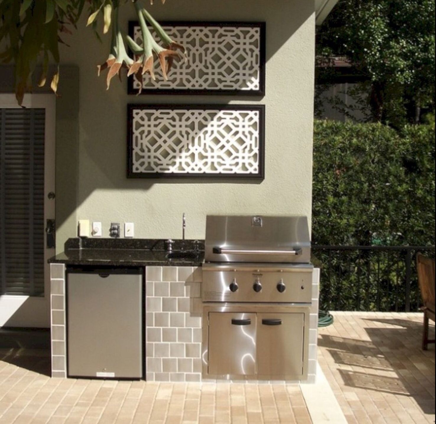Frig Veg Sink Grill Small Outdoor Kitchens Outdoor Kitchen Plans Outdoor Kitchen