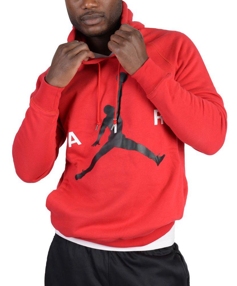 5c954e2e6bda Jordan Mens Air Jordan Air Pullover Hoodie Red 807315 687  Jordan  Hoodie