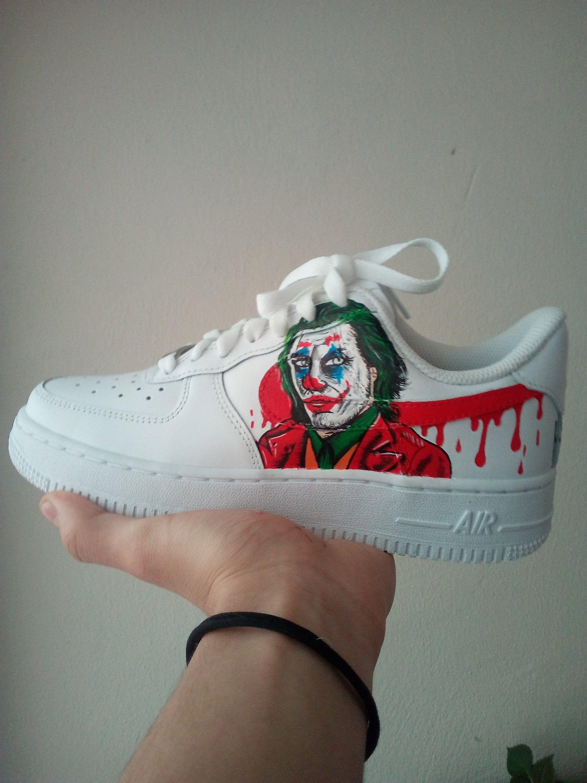 Nike Air Force 1 Joker & Drip Hand Painted Shoes Custom