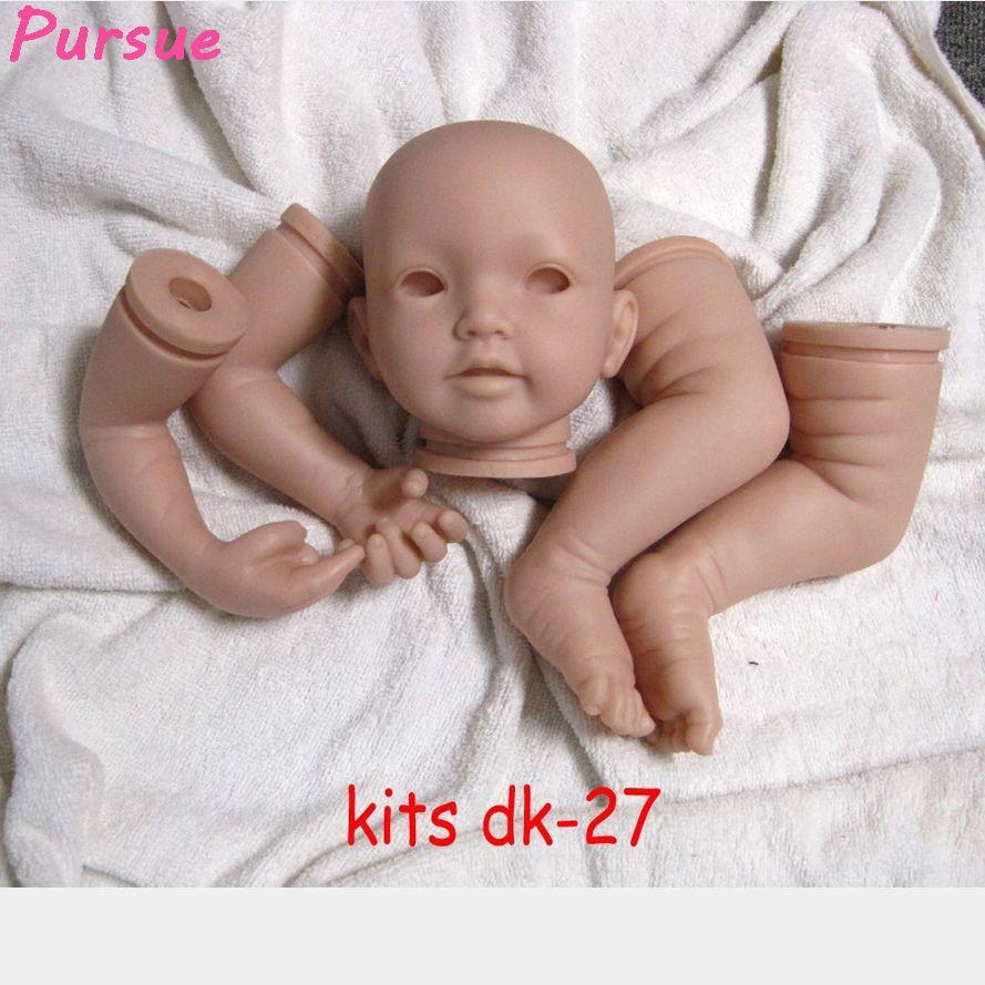 "23/"" Nice Girl Unpainted Reborn Baby Silicone vinyl Kit Model Simulation Dolls"