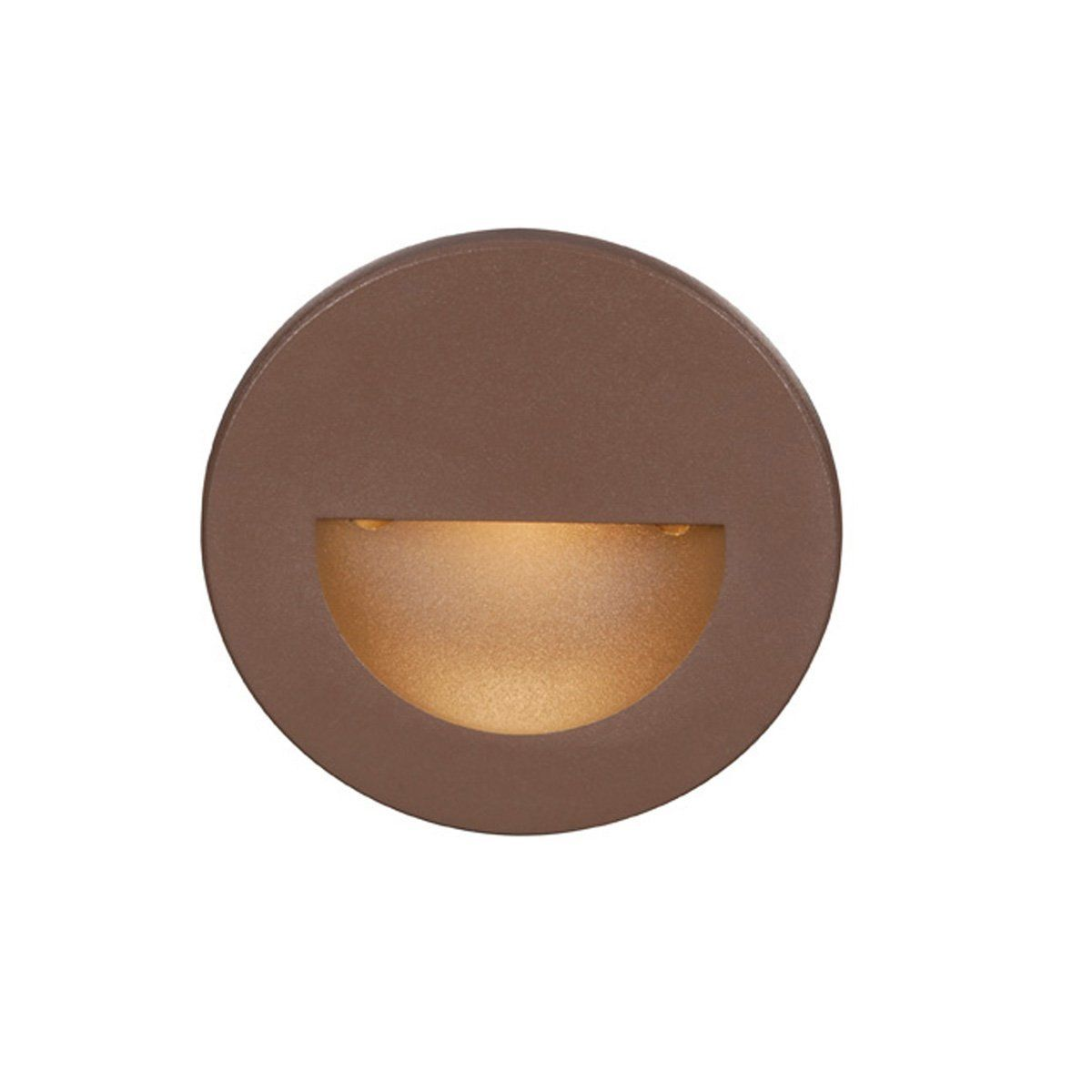 Wac lighting wl led300 c bz circular scoop 4w 120v led step light wac lighting led circular step light from the ledme collection bronze outdoor lighting landscape lighting hardscape lights mozeypictures Images