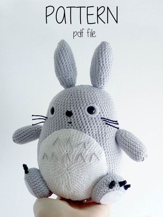 Totoro Pattern Amigurumi | easter | Crochet, Crochet patterns y Pattern