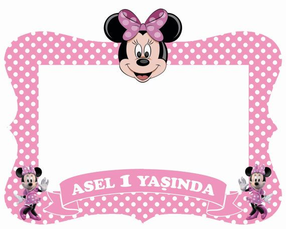 Minnie mouse - Mickey mouse - Daisy Duck frame / photo booth prop ...