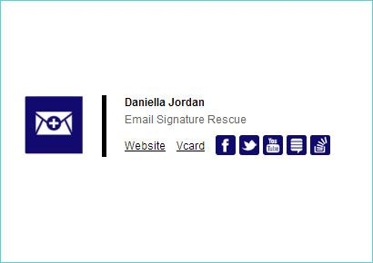 the professional 2 email signature made by email signature rescue was just added