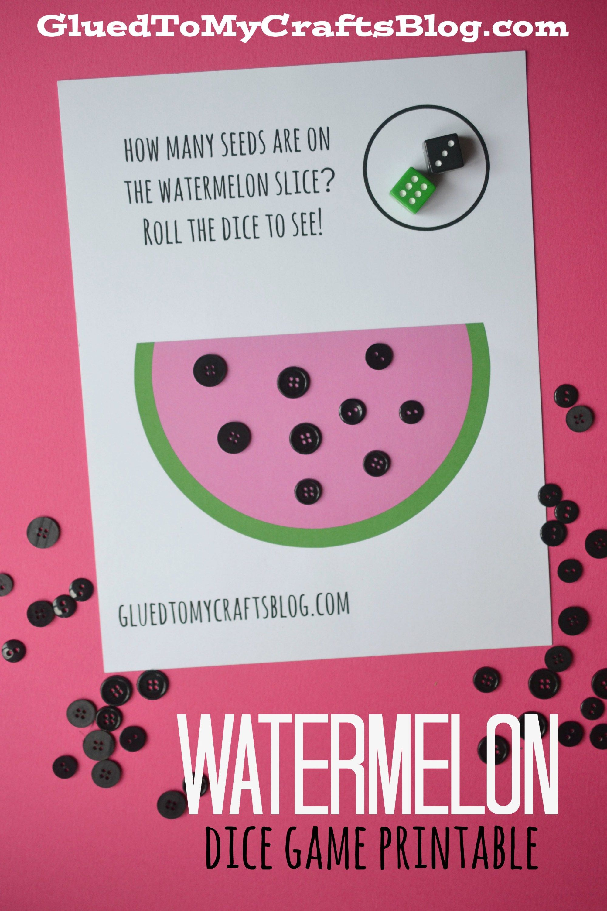Free Learning Dice Game Printables For Toddlers To Play With Watermelon Activities Math Activities Preschool Dice Games [ 2999 x 1999 Pixel ]