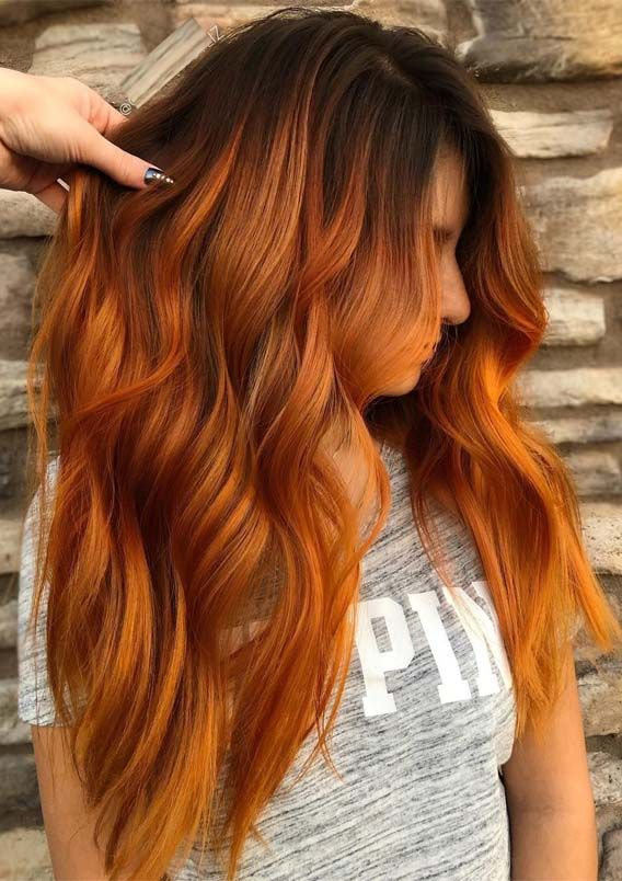 39 Hottest Copper Red Hair Colors for Long Hairstyles in 2019 #copperbalayage
