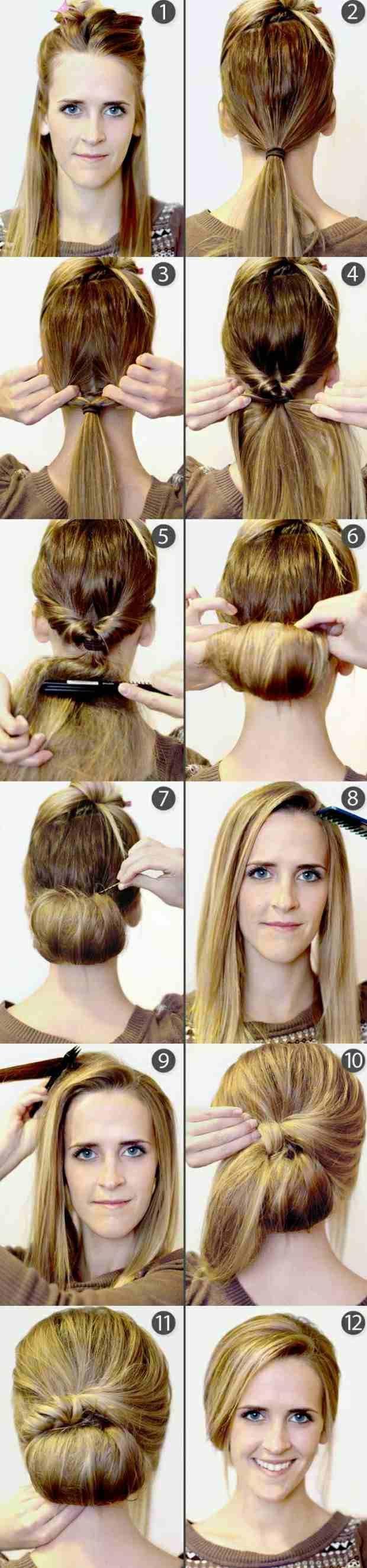 Einfache Und Schnelle Frisuren | Einfache Schnelle Hochsteckfrisur Alltag Praktisch Frisuren