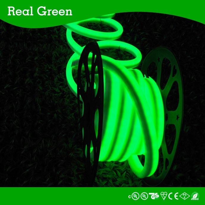 120v 2 Wires Green Led Rope Light 120v Led Neon Rope Light Led Neon Effect Rope Light Waterproof Led Led Rope Lights Led Down Lights Flexible Led Strip Lights