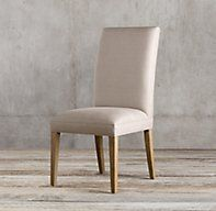 RH's Hudson Parsons Fabric Side Chair:Refined good looks and comfortable padding define Hudson.