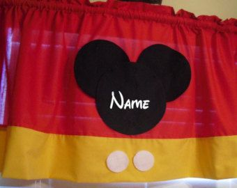 Superb Disney Mickey Mouse Personalized Curtain Valance!