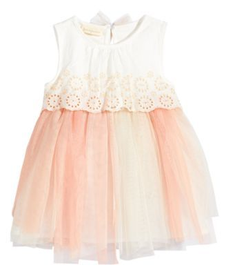 62603c1a4860 First Impressions Eyelet   Tulle Dress