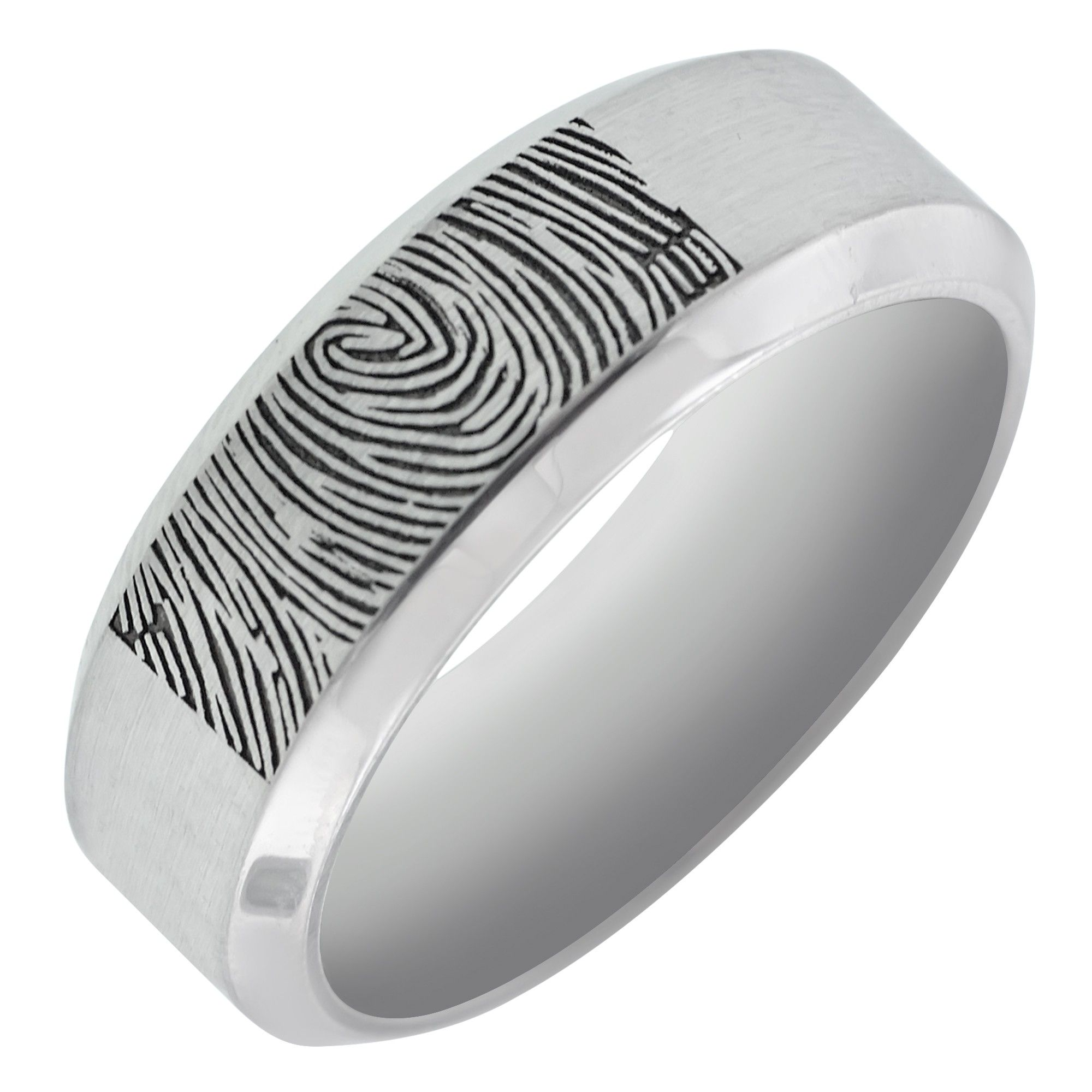 antler and print finger his set deer of ring bands fingerprint wedding rings best hers matching