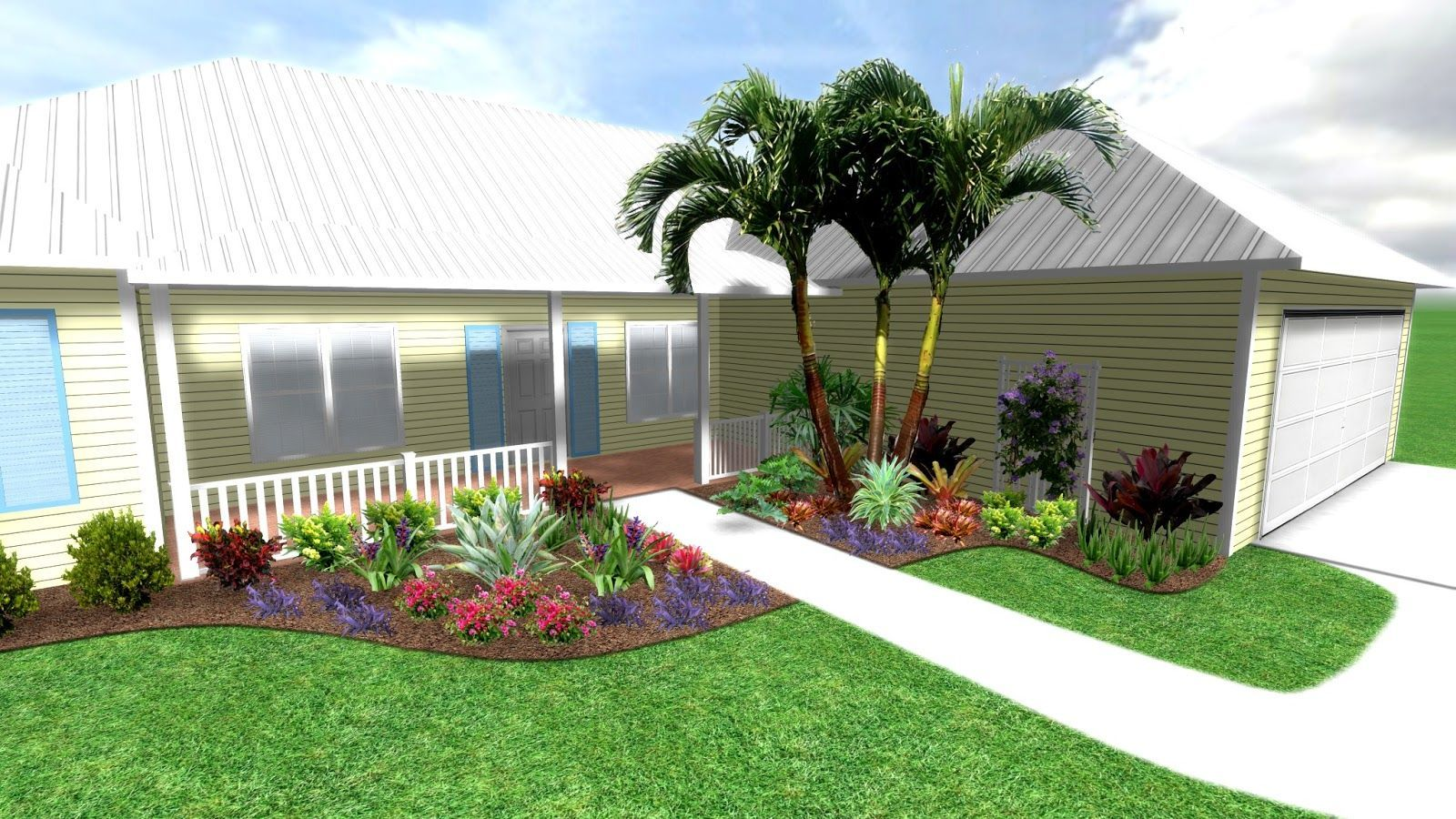 Front Yard Landscaping Ideas South Florida Photos Tropical Bfront Yardb Bb