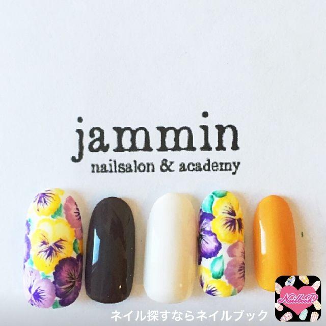 ネイル 画像 nailsalon&academy jammin 牛田 982414 黄色 フラワー