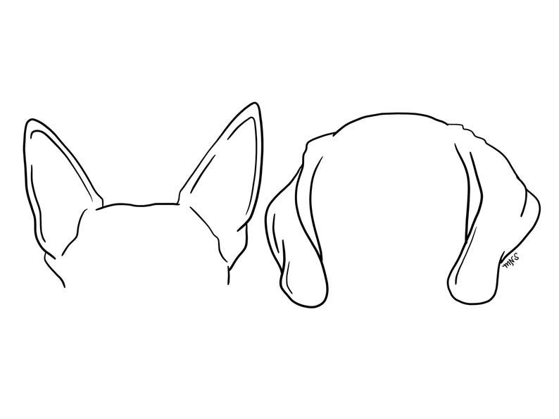 Canine Ear Study Tutorial Animal Drawings Animal Sketches Art Reference Poses