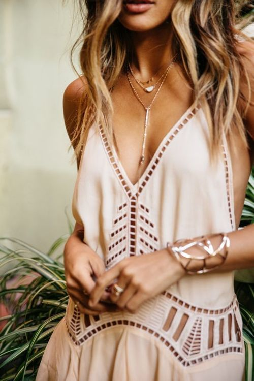 Blush cutout dress