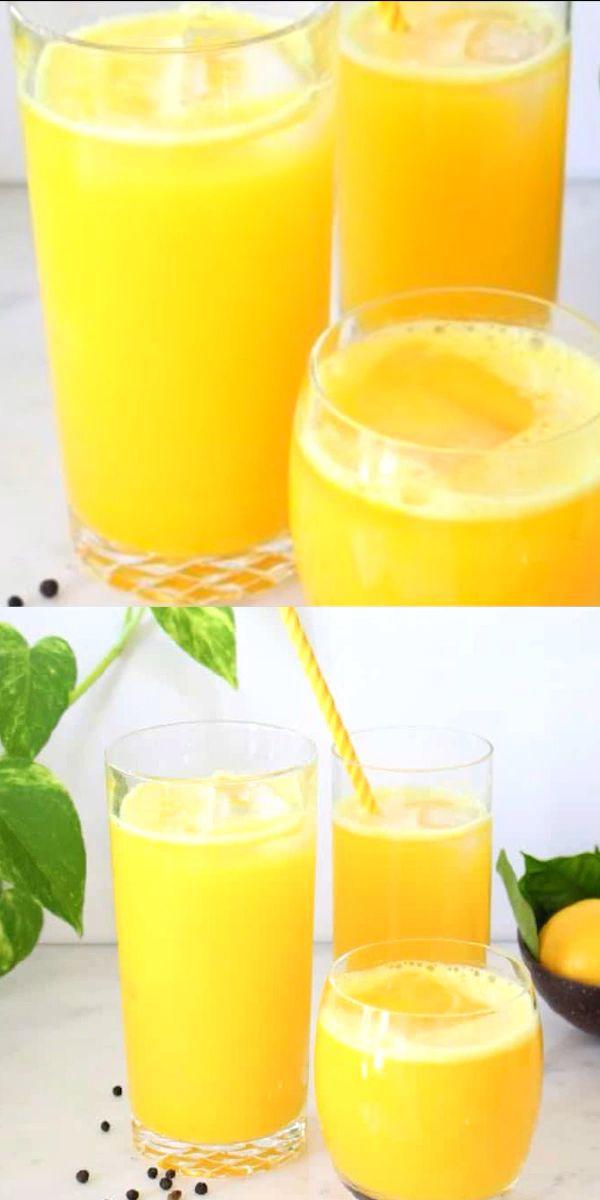 Turmeric Lemonade Recipe  #healthyjuicerecipes