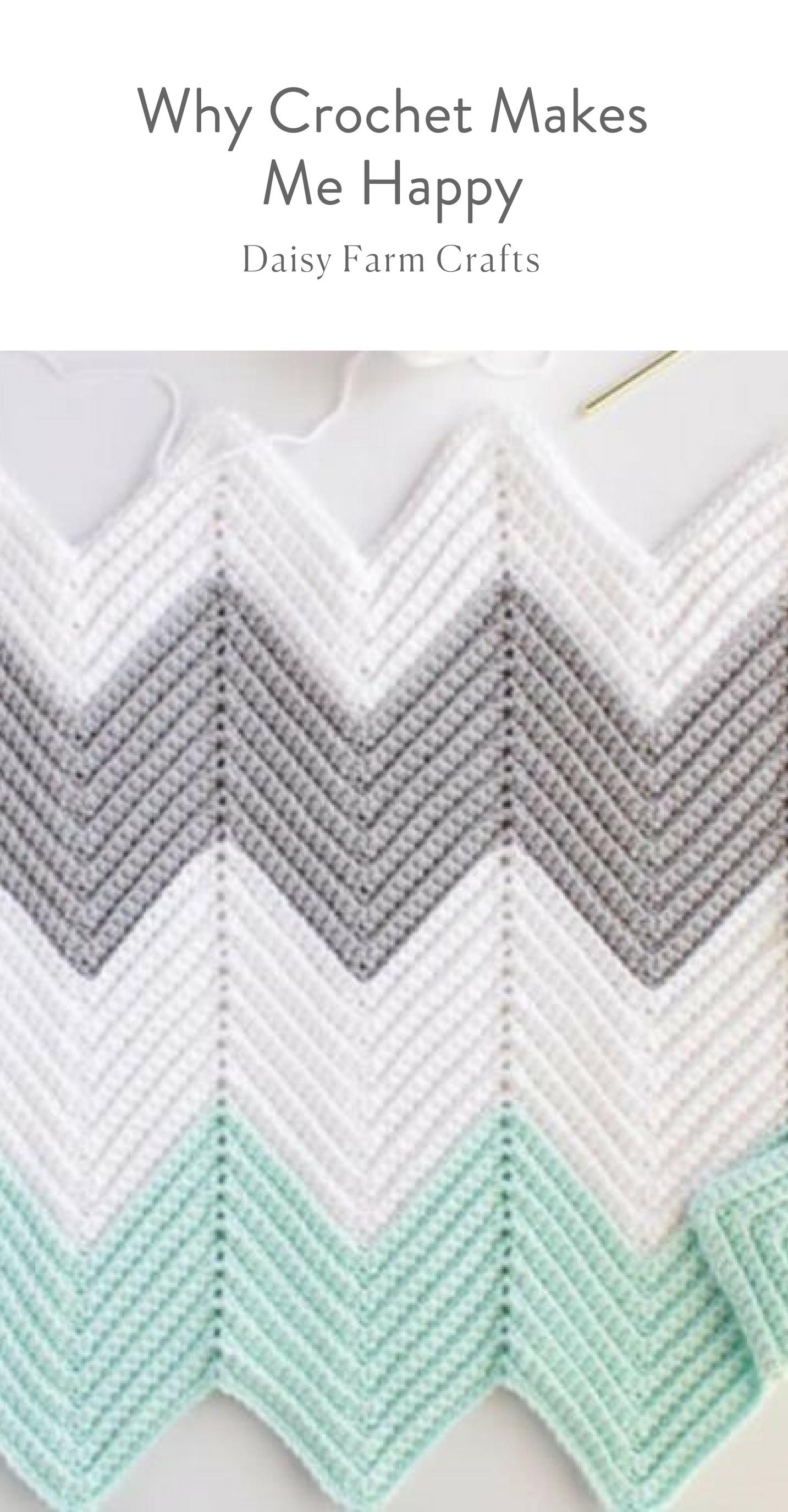 Why Crochet Makes Me Happy - Daisy Farm Crafts Blog | Puntos ...