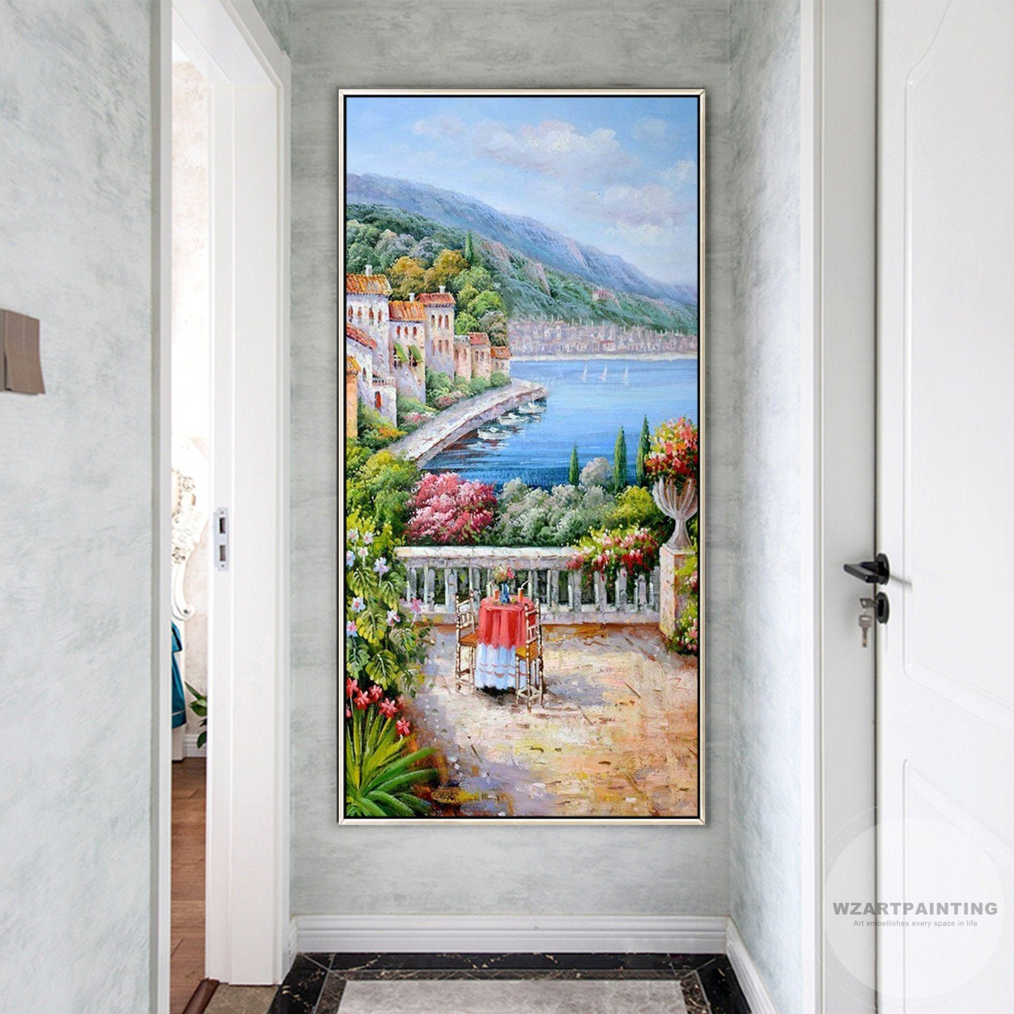 Framed Wall Art Mediterranean Landscape Italy Venice Print Painting Cityscape Painting Large Wall Art On Ca Wall Art Pictures Cityscape Painting Large Wall Art