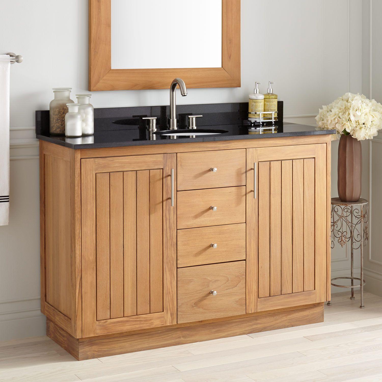 48 Narrow Depth Montara Teak Vanity For Undermount Sink Bathroom Vanities Bathroom Bathroom Vanity Bathroom Vanity Designs Teak Vanity [ 1500 x 1500 Pixel ]