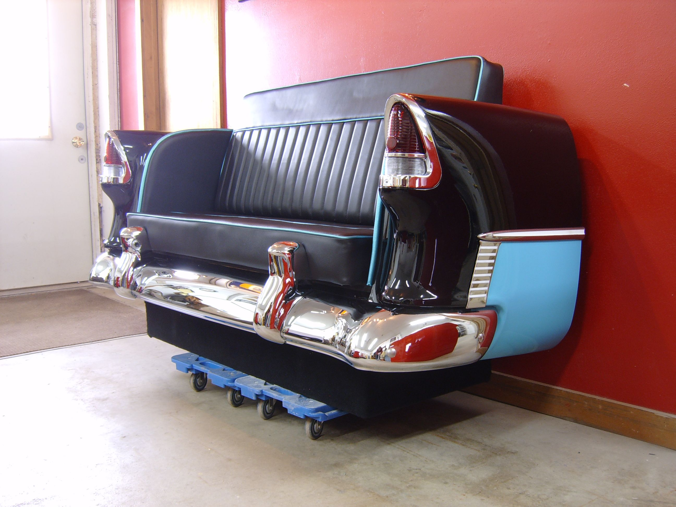 55 chevy bel air sofa for my future car garage shop for Garage bel auto 38400