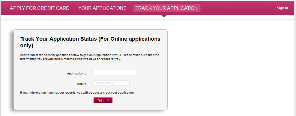 Axis Bank Credit Card Check Application Status