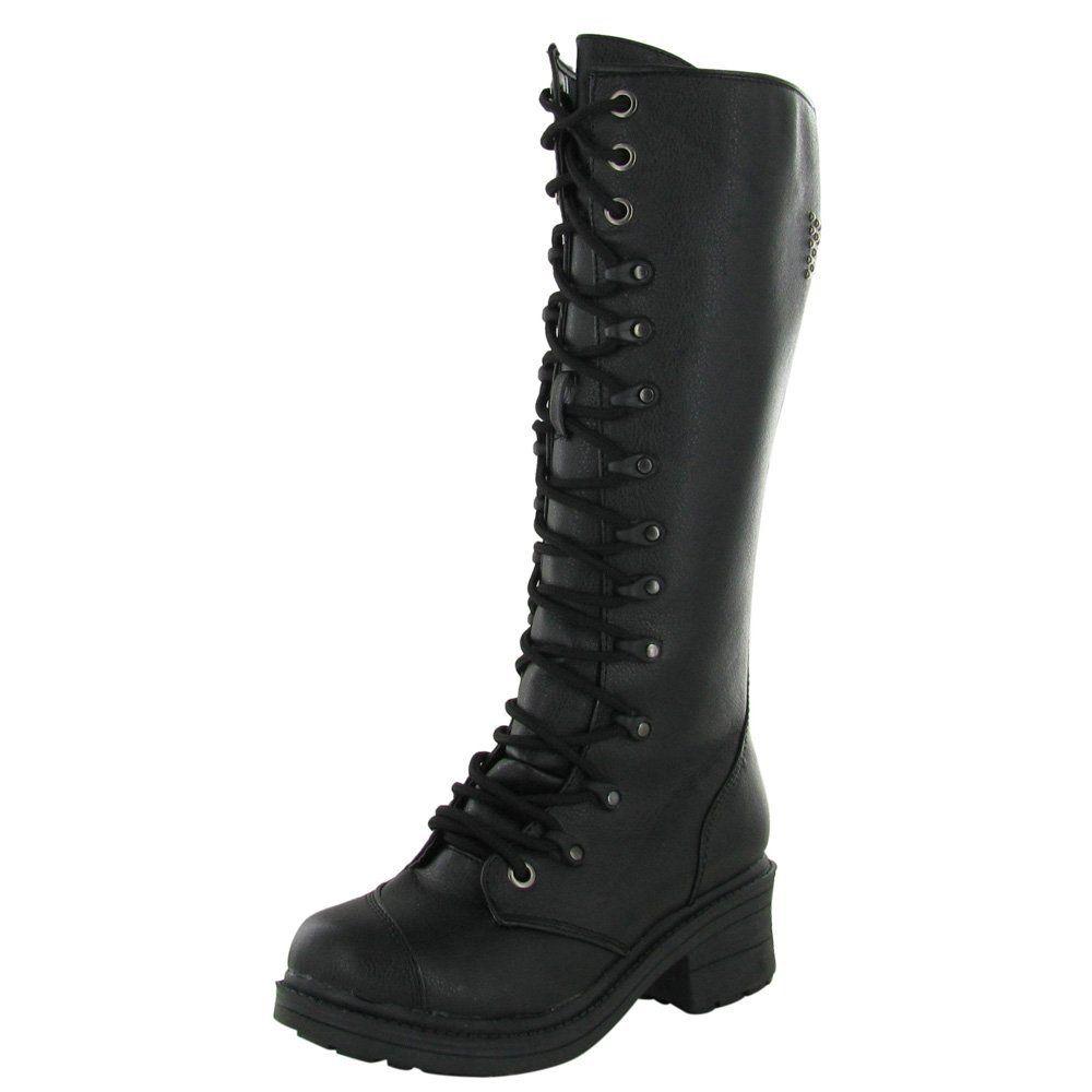 cad2e657c Amazon.com: Rivet Head Cross Women's Combat Boots | Christmas ...