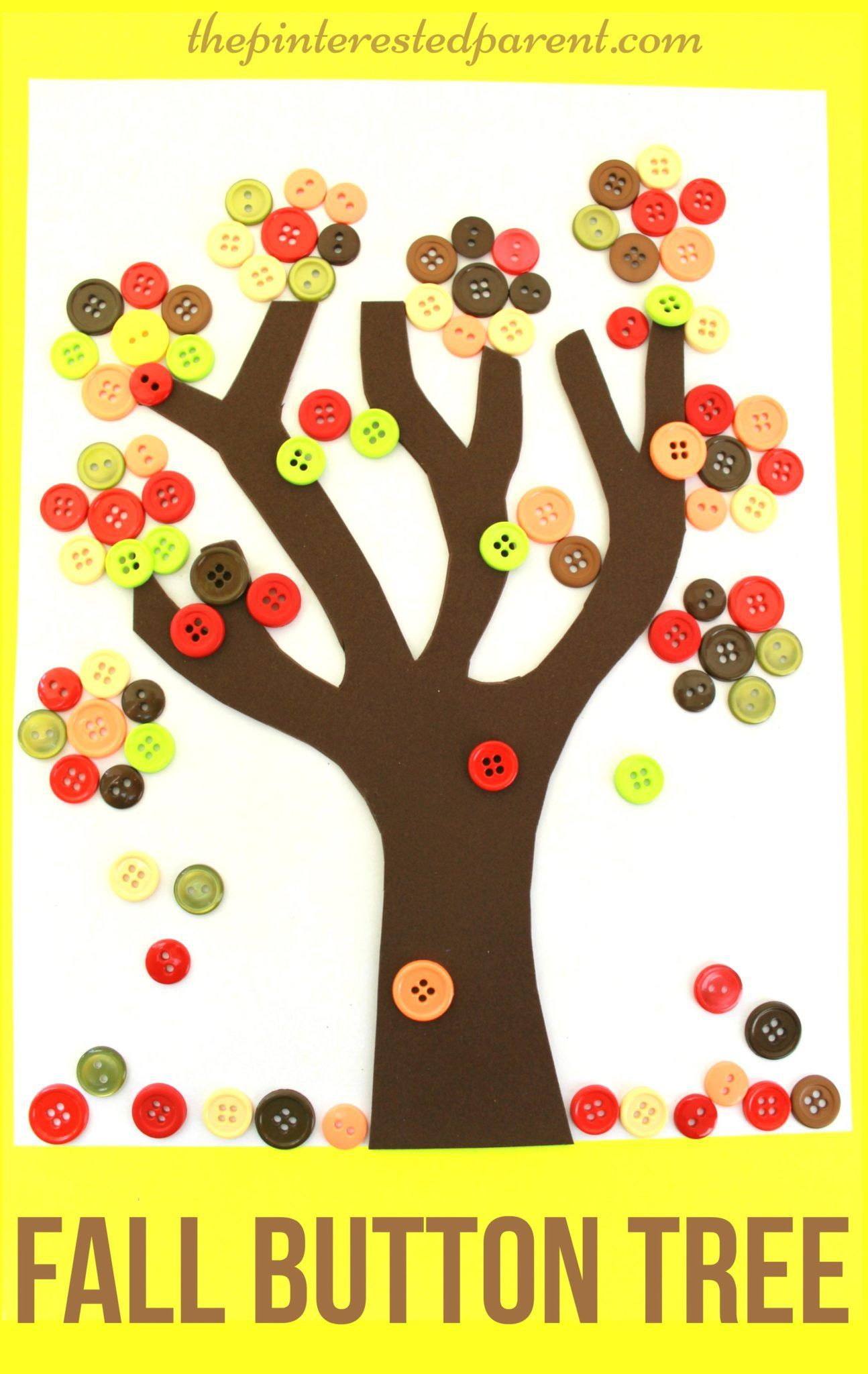 Autumn Button Tree
