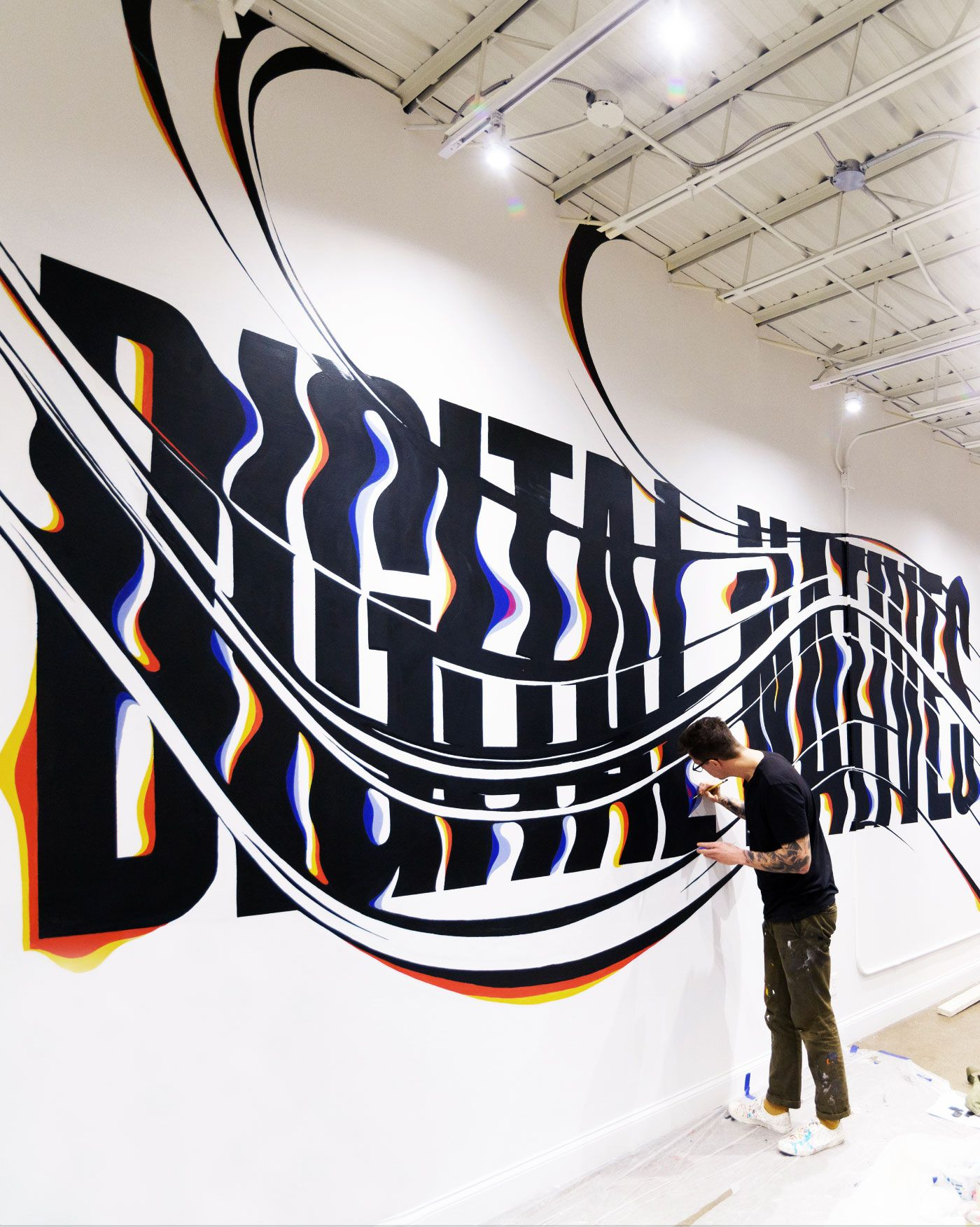 картинка шрифты на стене каждым тостом