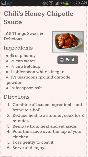Pin By Elena Davis On Lunch Dinner Noms Honey Chipotle Sauce Recipes Honey Chipotle