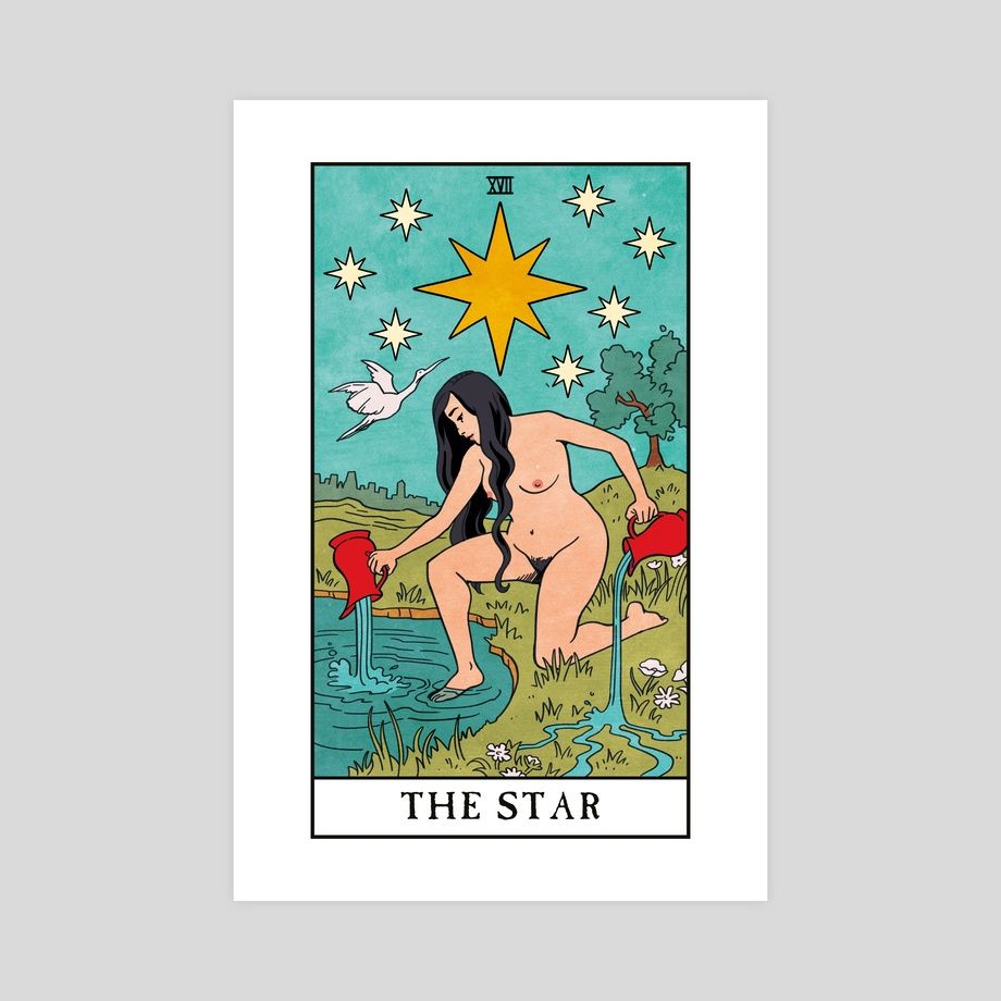The Star - The Modern Witch Tarot, an art print by Lisa Sterle #modernwitch