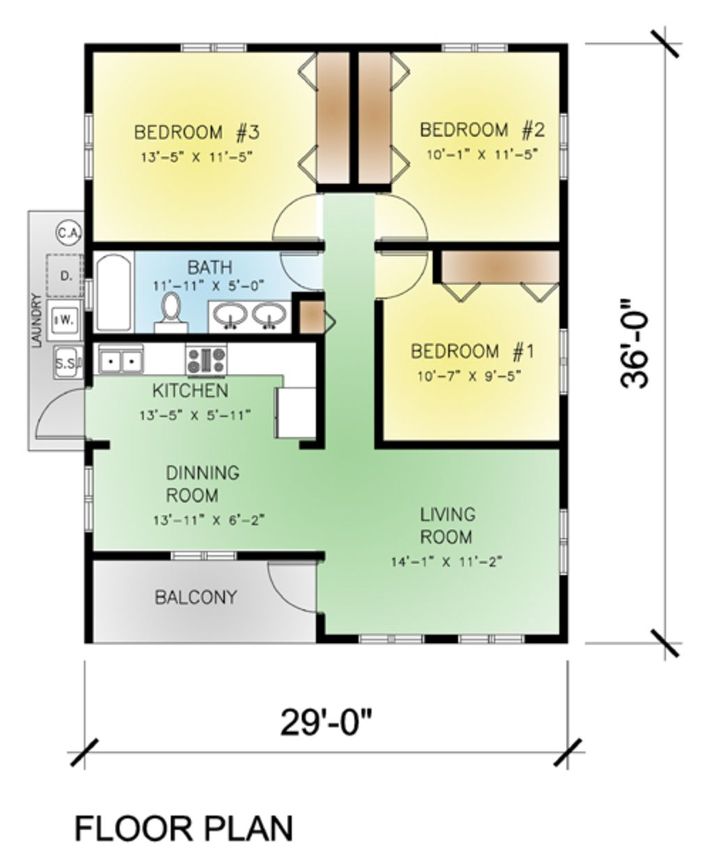 Attractive This Modern Design Floor Plan Is 974 Sq Ft And Has 3 Bedrooms And Has  Bathrooms.