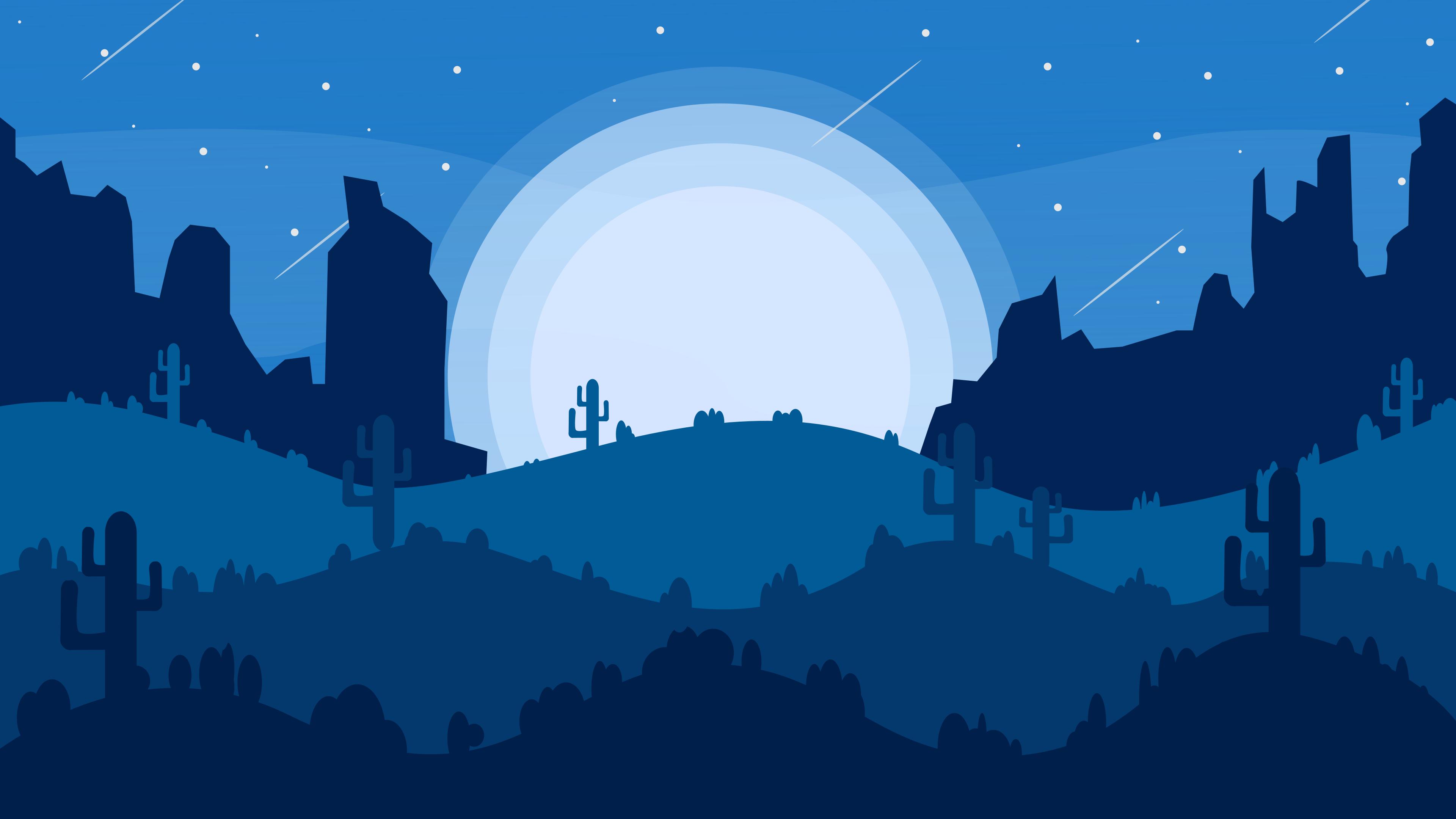 4k Nightlight Made By Me With Inkscape Cute Desktop Wallpaper Landscape Wallpaper