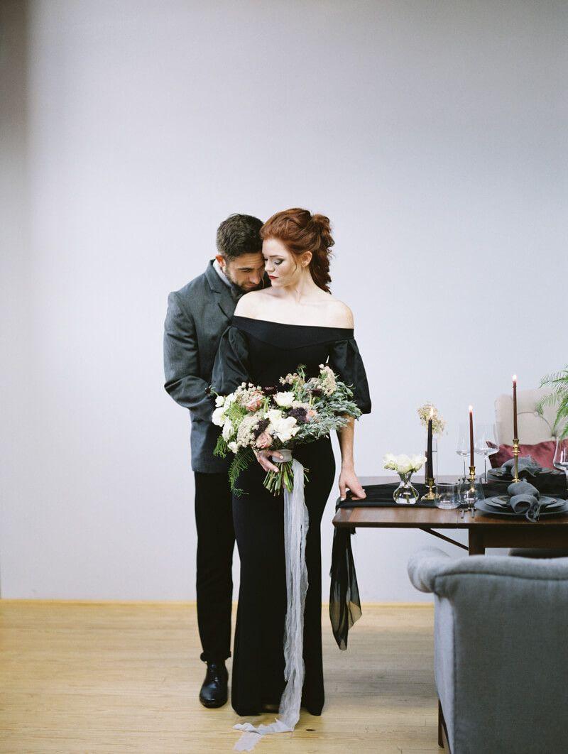 Black Wedding Shoot Black Wedding Gowns Bride Wedding Shoot