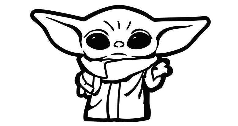 Pin By Danigirlburnham On To Make On Craft Day Star Wars Stickers Yoda Sticker Star Wars Drawings