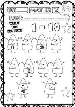 Halloween Maths Funny Worksheets For P K K And 1st Grade Set 1 Teacherspayteachers Com Halloween Math Math Humor Halloween Math Worksheets