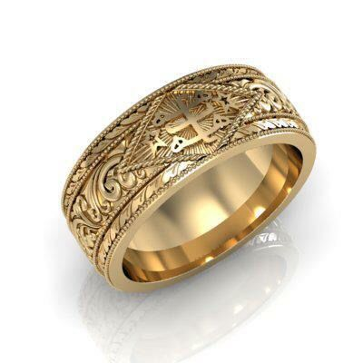 Gold Bahai Wedding Ring Http Www Hiddenwordsjewelry Com