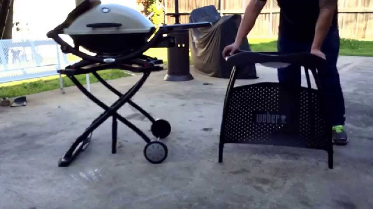 Weber Q Cart Vs Stand Comparison Grill Stand Standing Weber