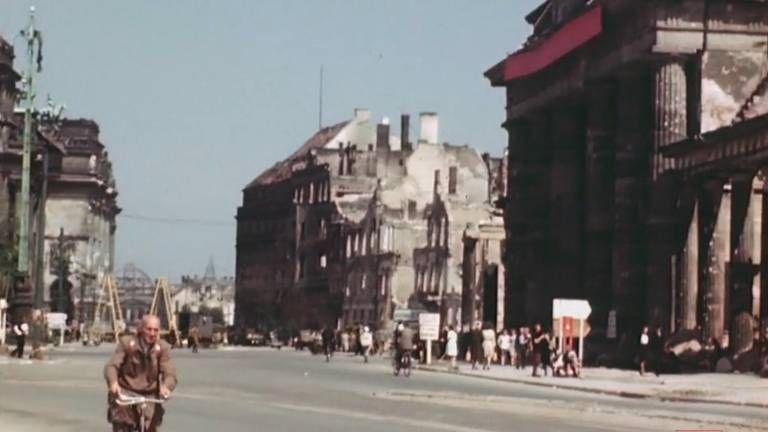 Spektakulares Farb Video Berlin Im Juli 1945 Berlin Brandenburger Tor Strasse