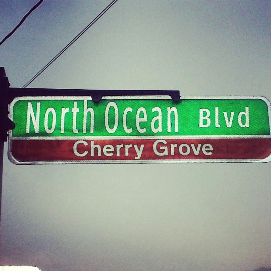My Favorite Address North Ocean Blvd Cherry Grove Beach Section Of Myrtle