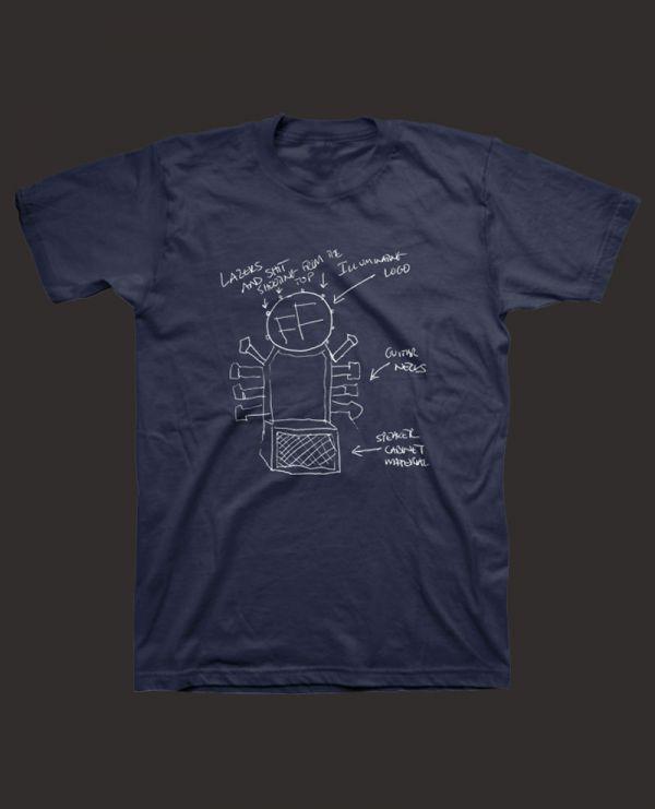 56f1deee Foo Fighters (Throne Schematics) T-Shirt. Buy Foo Fighters (Throne  Schematics) T-Shirt at the official Foo Fighters online shop