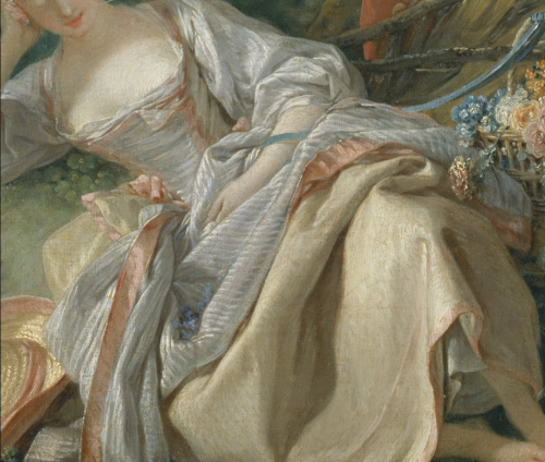 The Interrupted Sleep (detail), by François Boucher (French, 1703–1770)