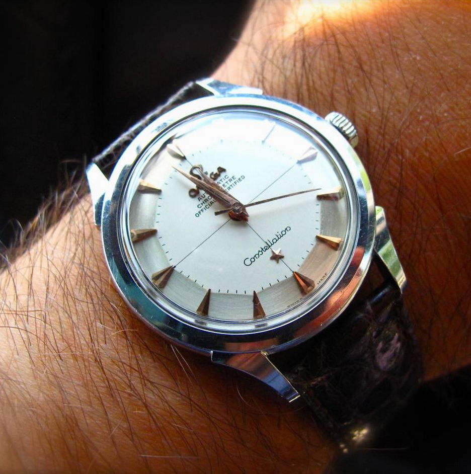 Superb Vintage OMEGA Constellation Piepan Chronometer In Stainless Steel Circa 1950s