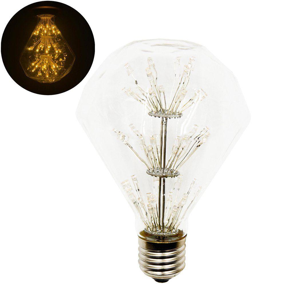 Lustaled G95 ES Diamond Shape Decorative Starry Star LED Light Bulbs ...
