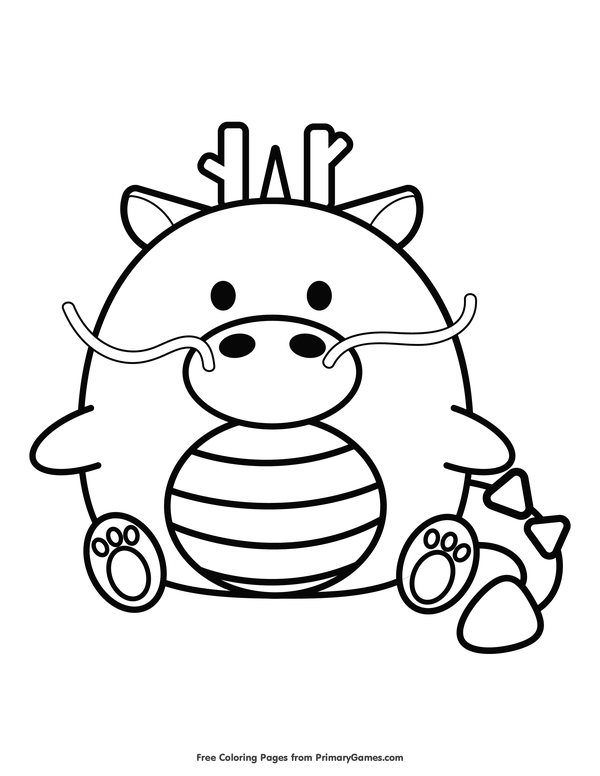 Chinese New Year Coloring Pages eBook: Chinese Zodiac Dragon ...