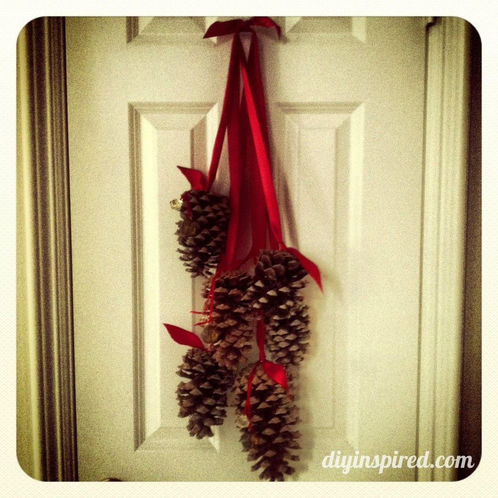 hanging pine cone decoration pine cone silver paint and pine