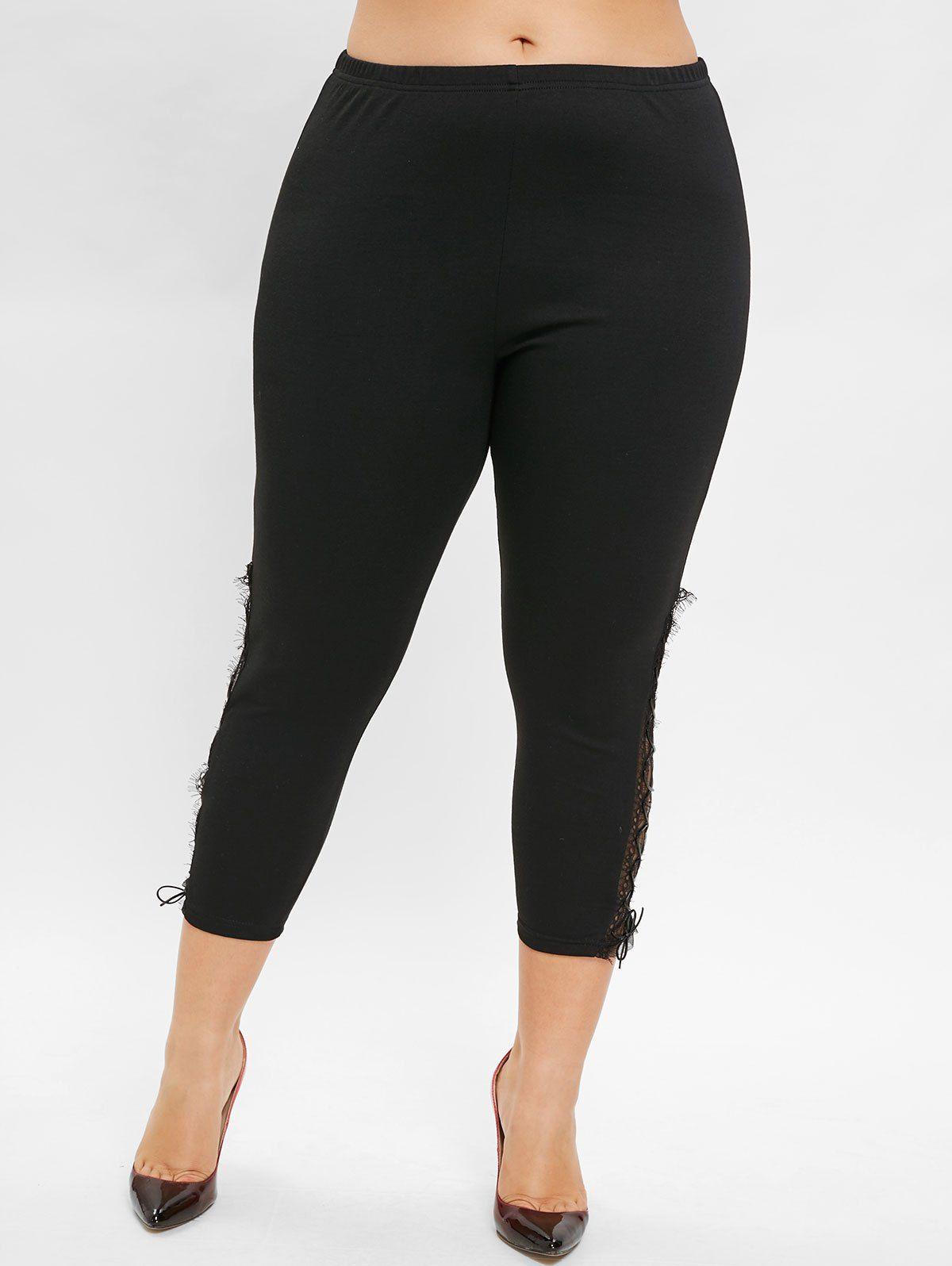 e88efe0d5f7 Plus Size Lace Up Ninth Leggings  leggings outfit casual lazy  leggings  outfit casual