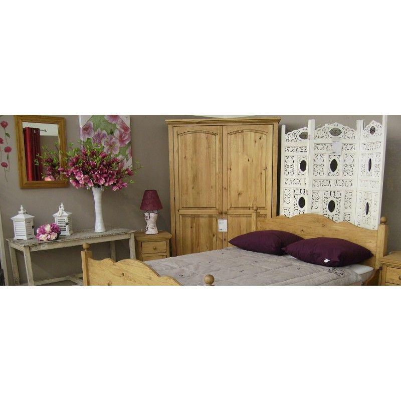 grande armoire dressing en pin massif au style authentique. Black Bedroom Furniture Sets. Home Design Ideas