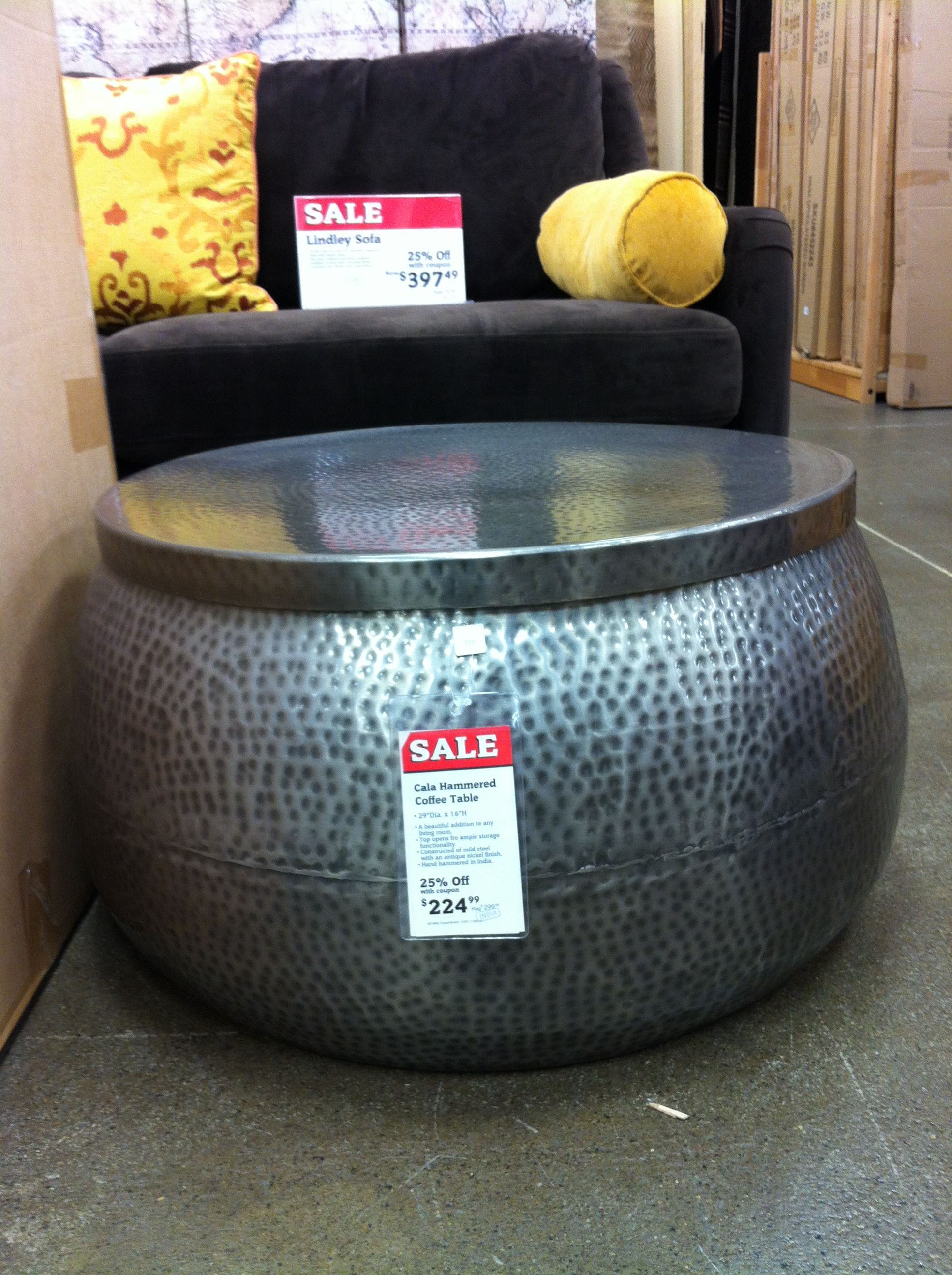 Cala Hammered Coffee Table 29x16 At World Market On Sale